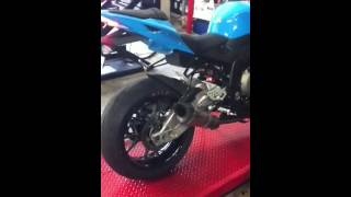 10. BMW S1000RR 2012 Akrapovic Exhaust sound & flame