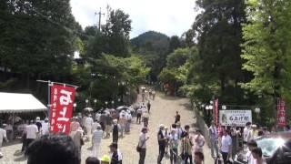 石上げ祭(1)社務所前 一真会・大口町ほか到着