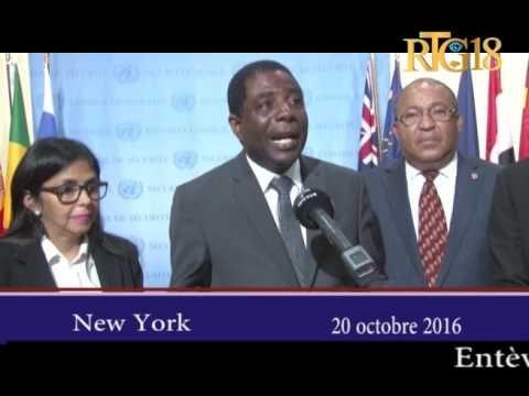 Le Premier ministre, Enex Jean-Charles au siège de l'ONU