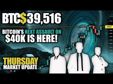 Thursday $40K Breakout Watch🔴Live Day Trading📈Market Analysis🔴Chart Requests, News & More!