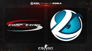 CS:GO - compLexity vs. Luminosity [Cbble] - ESL ESEA Pro League Season 2 - Week 5, Day 1