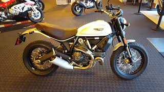 10. 2018 Ducati Scrambler Classic in Sugar White Uncrating & Walk Around @ Frontline Eurosports