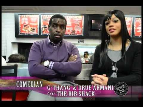 COMEDIAN G THANG BLOCK DVD INTERVIEW@ THE RIB SHACK