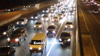 Traffic jam at road 30 Kuwait 05/03/2016