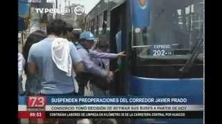 Suspenden preoperación del Corredor Javier Prado