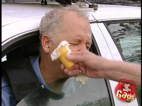 Epic Old Man Attacks Police Officer With Ice Cream