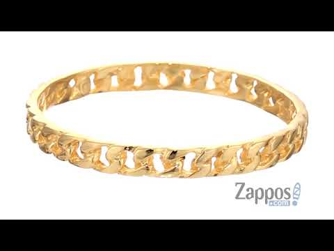 Kenneth Jay Lane Polished Gold Chain Link Bangle SKU: 9222241