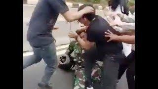 TNI vs Pengendara Mobil Mazda