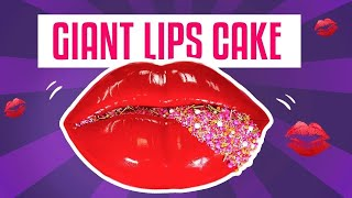Video How To Make A GIANT LIPS CAKE For Valentine's Day w/ GLAM Sprinkles | Yolanda Gampp | How To Cake It MP3, 3GP, MP4, WEBM, AVI, FLV Maret 2018