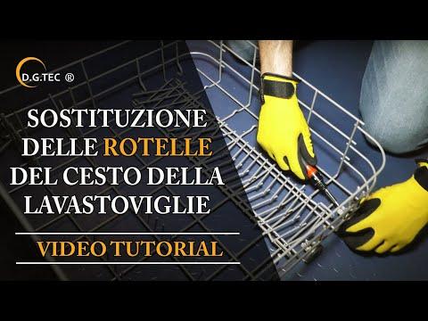 Sostituzione rotelle cesto delle lavastoviglie Rex Electrolux Aeg