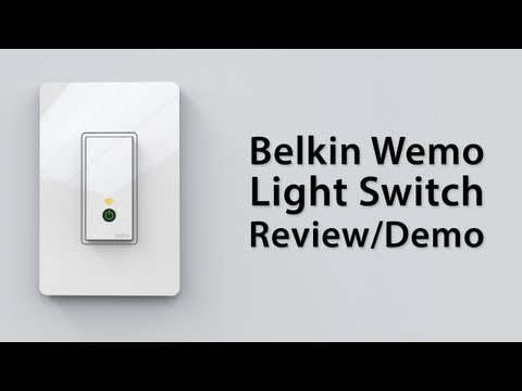 [Review] Belkin Wemo Light Switch - Demo And Overview