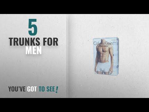 Top 10 Trunks For Men [2018]: Calvin Klein Underwear Men's Pack Of 3 Trunk Shorts