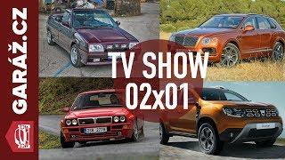 Video GARÁŽ.cz 02x01 - Lancia Delta Integrale, Škoda Favorit, Dacia Duster a Bentley Bentayga MP3, 3GP, MP4, WEBM, AVI, FLV Juni 2018