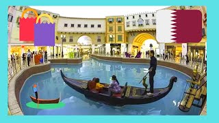 Doha Qatar  city images : (Doha, Qatar) The unique Gondolas of the Villaggio shopping mall