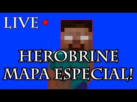 LIVESTREAM - HEROBRINE! #3 Mapa Especial!