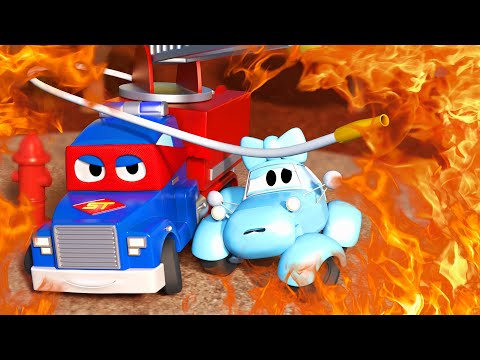 The Fire Engine Truc Carl the Super Truck - Car City ! Cars and Trucks Cartoon for kids