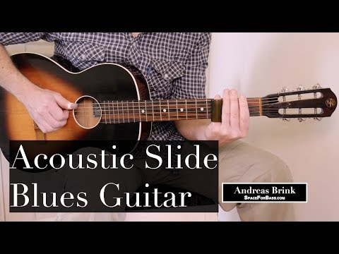 Acoustic guitar slide blues in open G tuning