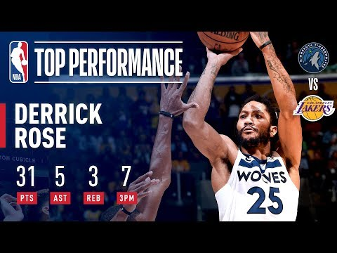 Video: Derrick Rose Drops 31 And A CAREER HIGH 7 3-Pointers In Los Angeles | November 7, 2018
