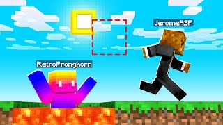 Trolling Our Friends With IMPOSSIBLE Parkour in Minecraft | JeromeASF