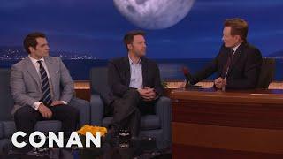 Video Ben Affleck & Henry Cavill's Reactions To Being Cast As Batman & Superman  - CONAN on TBS MP3, 3GP, MP4, WEBM, AVI, FLV Juni 2018