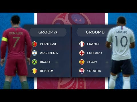 What if the World Cup KNOCKOUT Stage Teams Were in the Same Groups? - FIFA 18 Career Mode