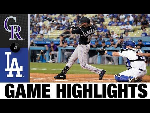 Rockies vs. Dodgers Game Highlights (8/27/21)   MLB Highlights