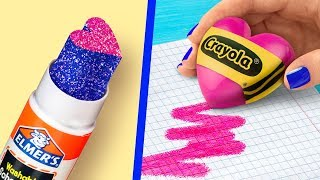 Video 11 Fun DIY School Supplies / Valentine's Day Special! MP3, 3GP, MP4, WEBM, AVI, FLV Februari 2019