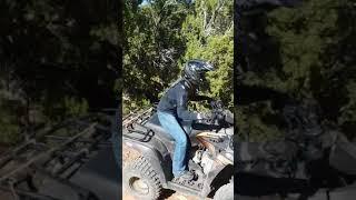 7. Cami's big hill climb on a Kawasaki Brute force 300