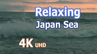 4k  Ultra HD  Relaxing Japan Sea  Ocean Wave Sounds Filmed in Akita Japan Ocean with Panasonic hc-x1000-k  DJI Ronin ...