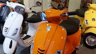 3. 2018 Vespa 150cc Scooter Launched with New Colors | Detail Walkaround | 1080p