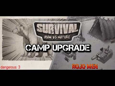 SURVIVAL: MAN VS NATURE | CAMP UPGRADE | BEAR FIGHT |  EP.2  FULL GAMEPLAY (iOS MOBILE)