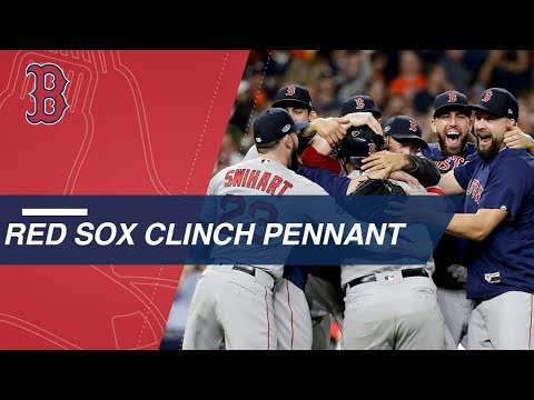 Video: Red Sox clinch American League pennant and advance to World Series