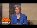 Senator Elizabeth Warren Silenced On Senate Floor By Republicans | TODAY