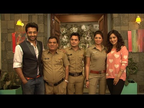 Jackky Bhagnani and Neha Sharma on the set of FIR for Promotion Of Youngistaan
