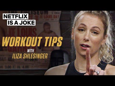 Iliza Shlesinger Gives Her Spenser Confidential Fitness Secrets   Netflix Is A Joke
