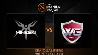 Mineski.Sports5 vs WG.Unity - Game 2 - The Manila Major SEA Qualifiers - Philippine Coverage