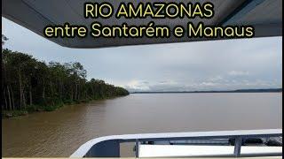 Video Viagem de barco Santarém Manaus navio Ana Beatriz Rio Amazonas MP3, 3GP, MP4, WEBM, AVI, FLV Mei 2019
