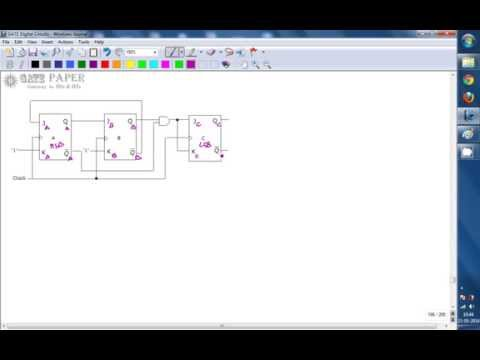 GATE 1999 ECE Determine sequence of states and Modulus of synchronous counter
