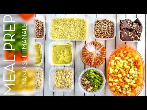 MENU' SETTIMANALE vegetariano | ORGANIZZAZIONE DEI PASTI per RISPARMIARE | Meal prep for the week