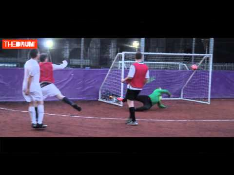 Watch the highlights from the England v Scotland marketing industry football match video
