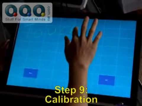 How to install  touch screen kit overlay on a LCD monitor