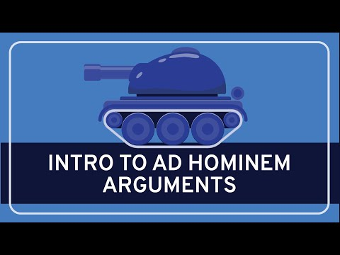 Fallacies Introduction To Ad Hominem Video Khan Academy