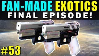 Benjamin's Deviant Art: http://destinywarlock.deviantart.com Micheal's Deviant Art: http://rageblade66.deviantart.comPart 52: https://www.youtube.com/watch?v=MDqZJlI-VhoIn the 53rd Exotic Concepts video we are going over a bunch more awesome community exotic weapon concepts, this is the last episode where you're going to be able to submit your concepts! Bungie should definitely implement ideas like these into Destiny in future DLC!Destiny needs to be improved through the Loot System, rather than just small chunks of PvE or PvP Content! We finally got a lot more content with the new Rise of Iron expansion, and new exotics were definitely be added with that DLC, and future live updates like The Dawning, and the new Age of Triumph Update, eventually leading to Destiny 2!--- Official Merch: https://shop.bbtv.com/collections/kackishd--- My Twitter: https://twitter.com/RickKackis--- My Twitch Channel: http://www.twitch.tv/kackishd/profile