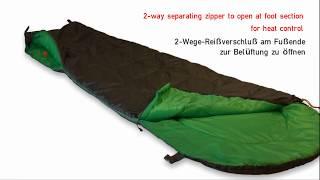 Легкий спальный мешок для летних походов. High Peak Easy Travel