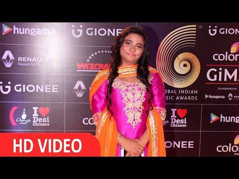 Singer Swati Sharma At Red Carpet Of GIMA Awards