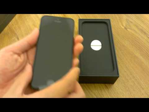 iPhone 5 Unboxing 16GB Black