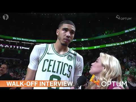 POST GAME INTERVIEW: Jayson Tatum Says WE PROTECTED HOME COURT!