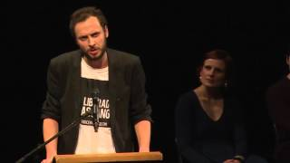 Srecko Horvat DiEM25 in Berlin launch