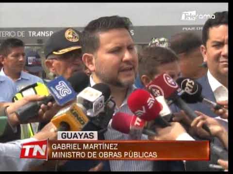 Ministro de obras públicas recorrió trabajos en la vía Guayaquil - Salinas