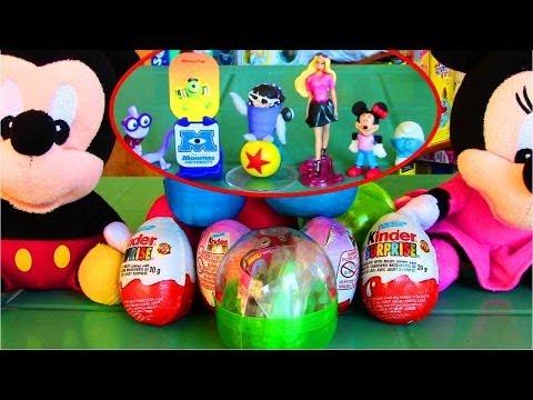PLAY-DOH Kinder Surprise Eggs Barbie Monsters Smurfs Surprise Eggs Capsule Toys Play Dough Fun